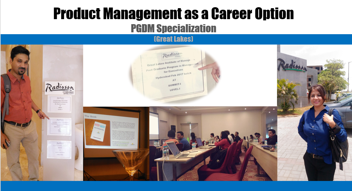Product Mgmt as a Career Option